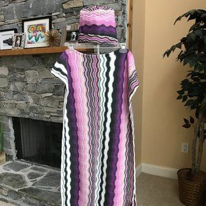MISSONI Made in Italy scarf and matching hat